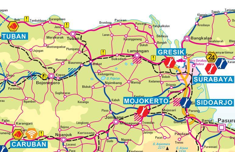 Peta Jalur Pantai Utara Pantura Jakarta-Surabaya Surabaya-Jakarta | Jangan Lebay Jangan Asal
