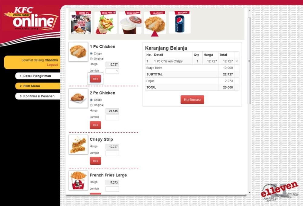 Cara Pesan Antar Online KFC Tanpa Telpon 14022 (5/6)